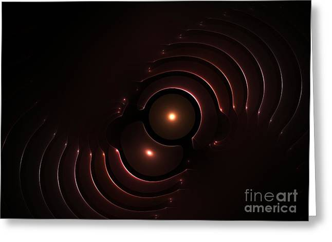 Abstract Chromeart Greeting Card by Steve K