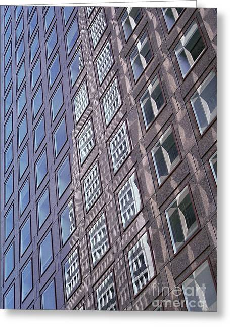 abstract cities architecture photograph - Glass Grid Greeting Card