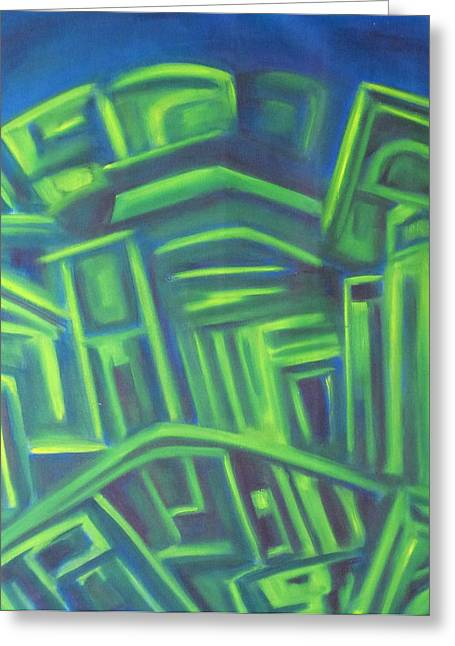 Abstract Cityscape Series IIi Greeting Card by Patricia Cleasby