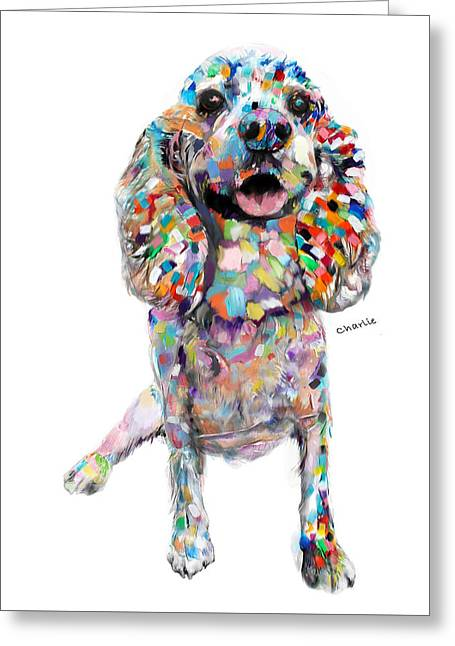 Abstract Cocker Spaniel Greeting Card