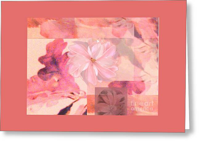 Abstract Collage Floral Greeting Card
