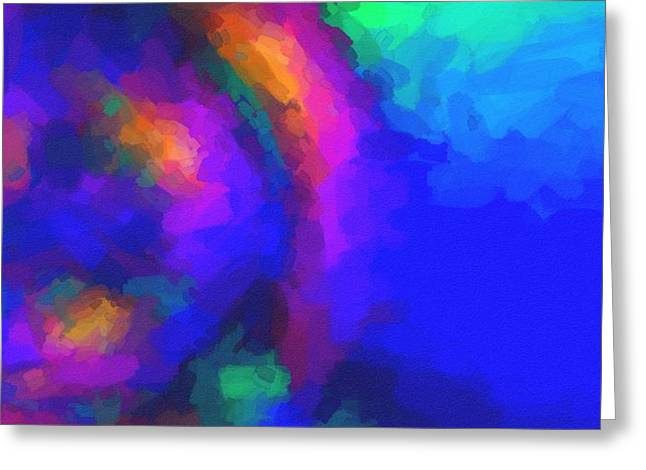 Abstract Color Cobinations In Watercolor 2 Greeting Card by Celestial Images