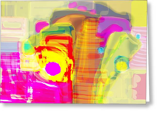 Abstract Colors Greeting Card by Don  Wright