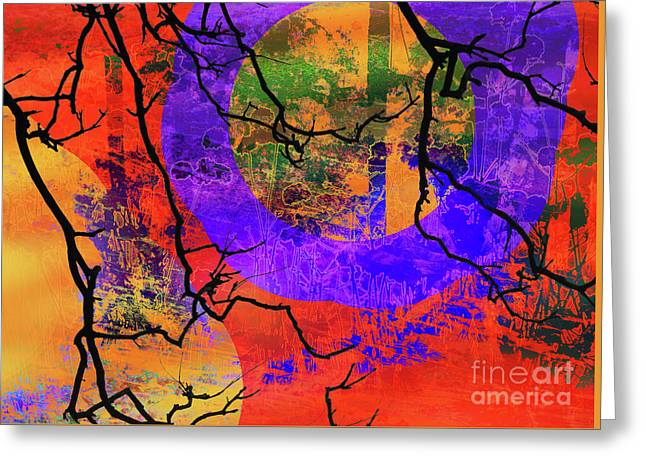 Abstract Configuration Greeting Card by Robert Ball