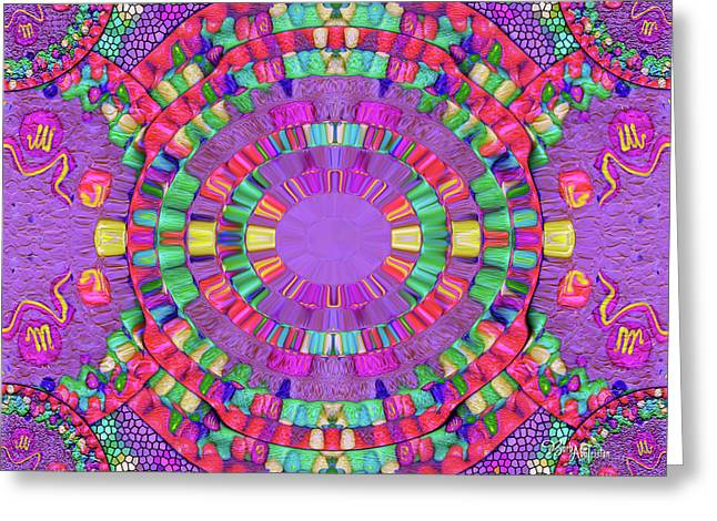 Abstract Cookie #047 Greeting Card by Barbara Tristan