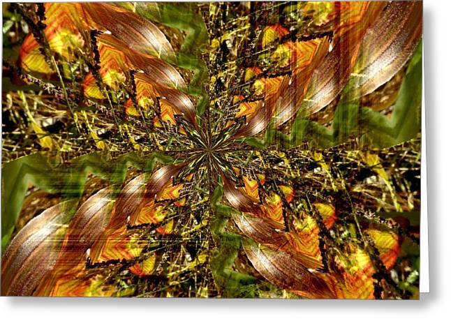 Abstract Cornfield 1 Greeting Card