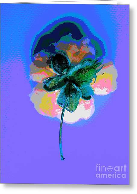 Abstract Cotton Flower By Jasna Gopic Greeting Card by Jasna Gopic