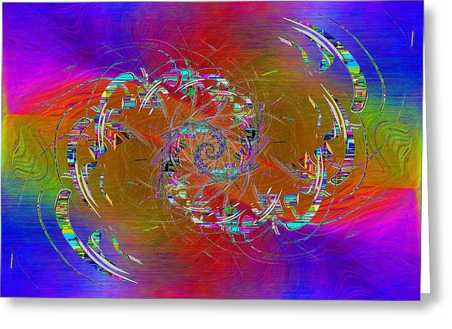 Abstract Cubed 351 Greeting Card by Tim Allen