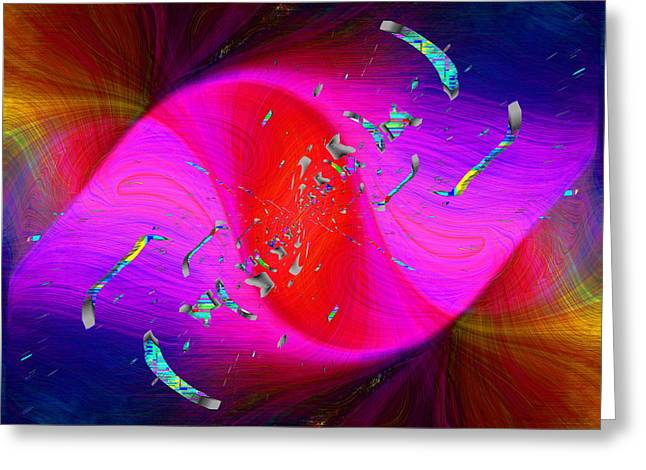 Greeting Card featuring the digital art Abstract Cubed 354 by Tim Allen