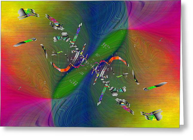 Greeting Card featuring the digital art Abstract Cubed 356 by Tim Allen