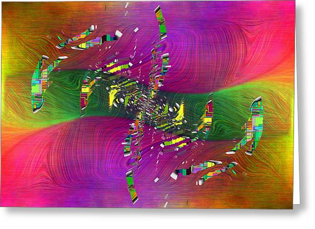 Greeting Card featuring the digital art Abstract Cubed 357 by Tim Allen