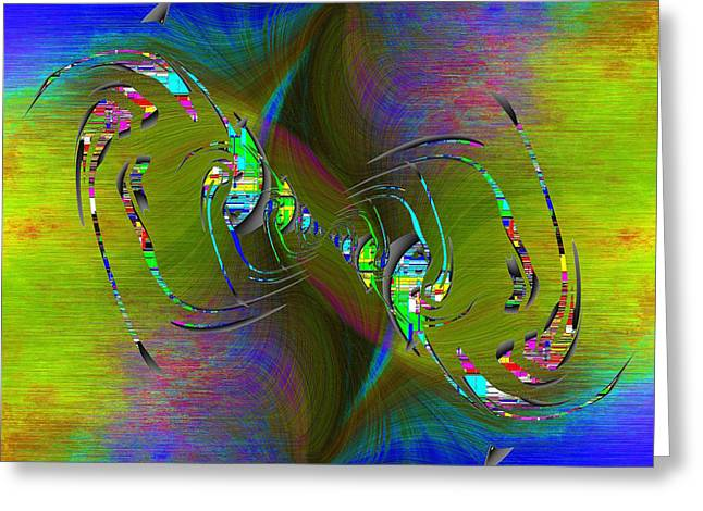 Greeting Card featuring the digital art Abstract Cubed 361 by Tim Allen