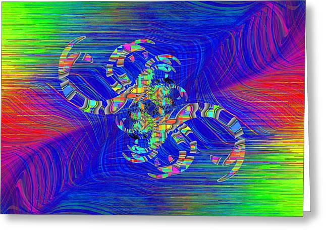 Greeting Card featuring the digital art Abstract Cubed 362 by Tim Allen