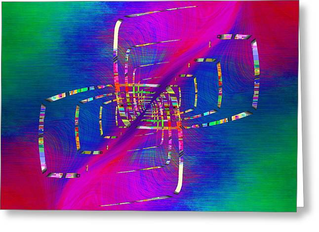 Greeting Card featuring the digital art Abstract Cubed 363 by Tim Allen