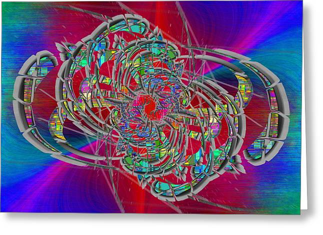 Greeting Card featuring the digital art Abstract Cubed 367 by Tim Allen