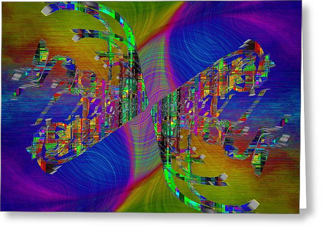 Greeting Card featuring the digital art Abstract Cubed 368 by Tim Allen