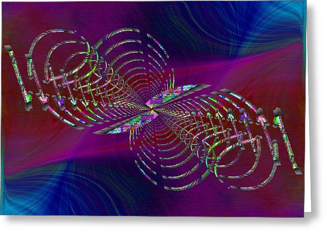 Greeting Card featuring the digital art Abstract Cubed 369 by Tim Allen
