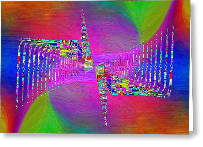 Greeting Card featuring the digital art Abstract Cubed 373 by Tim Allen