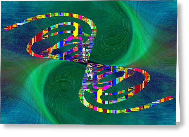 Greeting Card featuring the digital art Abstract Cubed 374 by Tim Allen