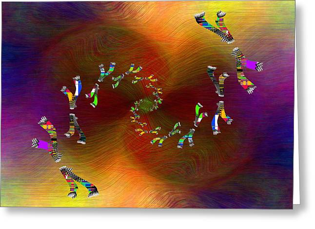 Greeting Card featuring the digital art Abstract Cubed 375 by Tim Allen