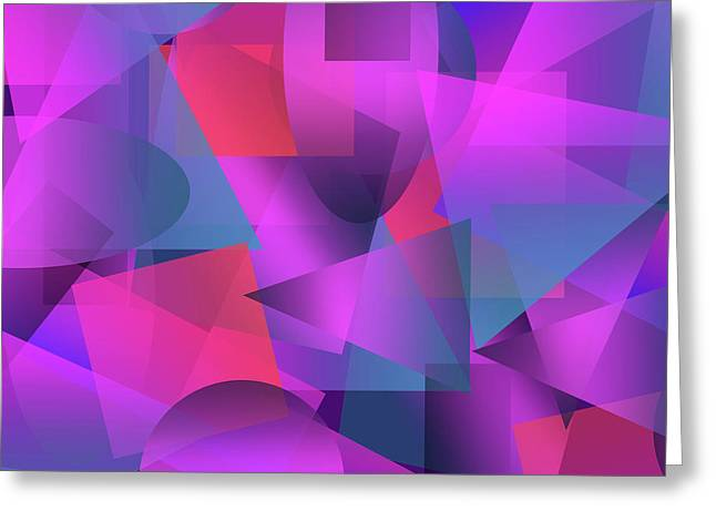 Abstract Cubes Greeting Card by Amir Faysal