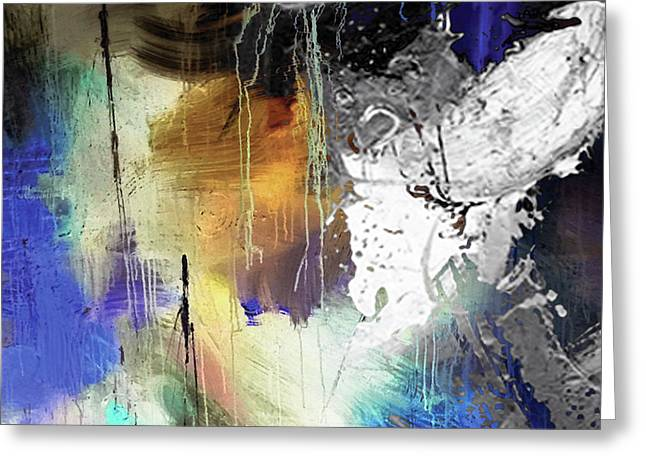 Abstract Dance Greeting Card by Sadegh Aref