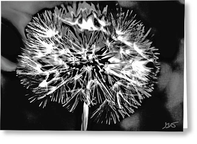 Abstract Dandelion Greeting Card