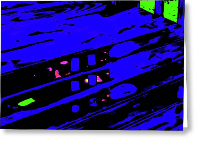 Abstract Deck Puddle Greeting Card