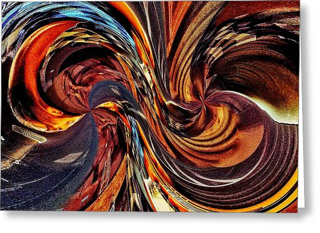 Abstract Delight Greeting Card by Blair Stuart