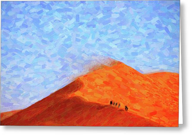 Abstract Desert Sand Dunes Greeting Card by Adam Asar