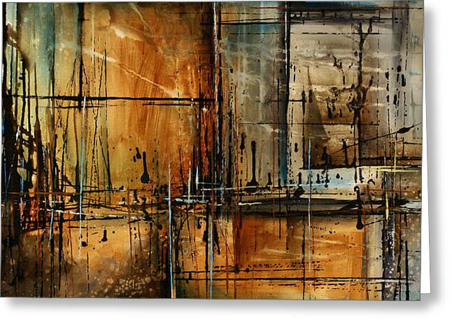 Abstract Design 76 Greeting Card by Michael Lang