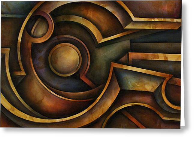 Abstract Design 87 Greeting Card by Michael Lang