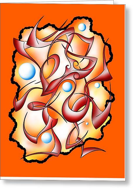 Abstract Digital Art - Selerion V3 Greeting Card by Cersatti