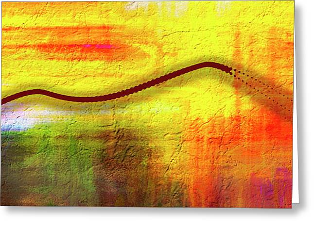 Abstract Digital Landscape Greeting Card
