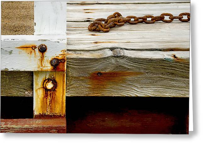 Abstract Dock Greeting Card by Charles Harden