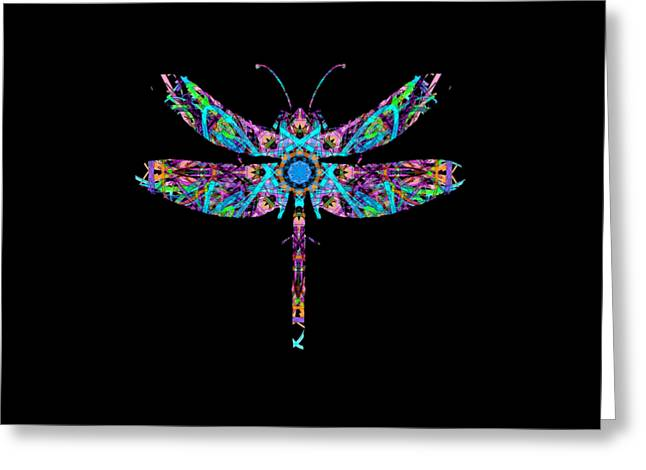 Abstract Dragonfly Greeting Card