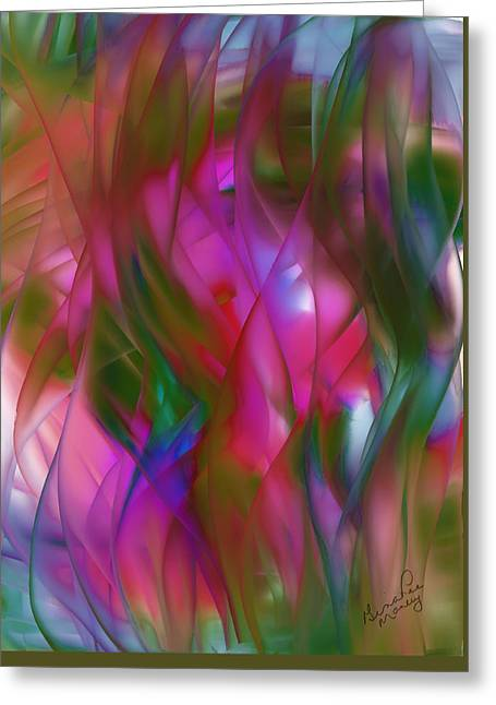 Abstract Dreams Greeting Card by Gina Lee Manley