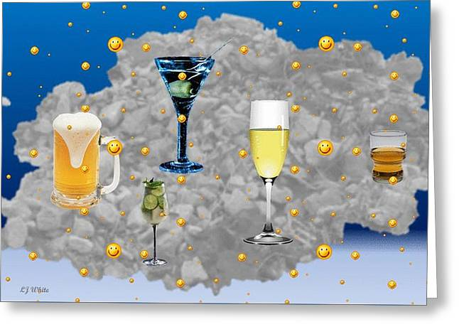 Abstract Drinks On The Rocks Greeting Card