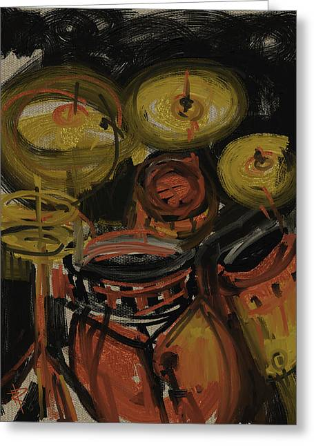 Abstract Drums Greeting Card