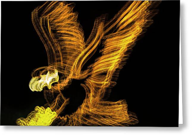 Abstract Eagle Greeting Card by Skip Willits