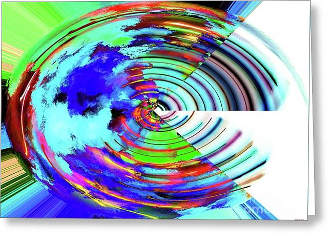 Abstract Earth Greeting Card
