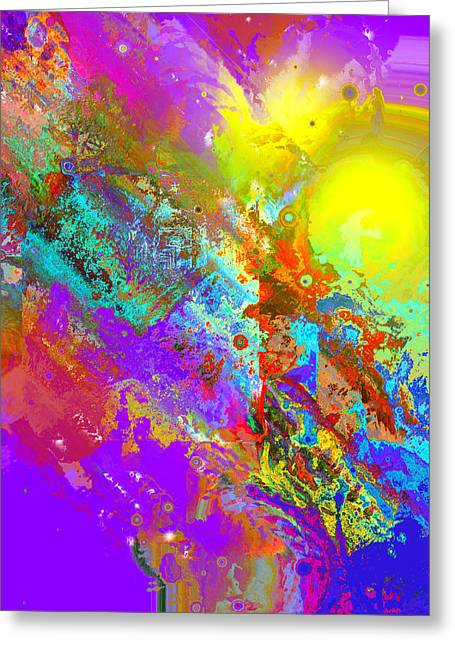 Abstract Eight-chroma Greeting Card by Patricia Motley