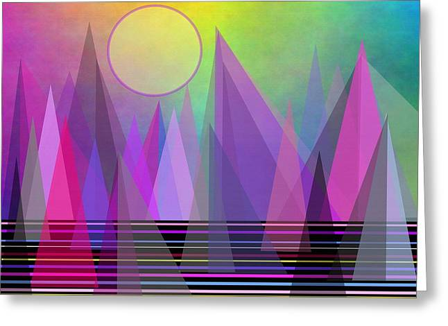 Abstract Elevation Greeting Card by Kathleen Sartoris