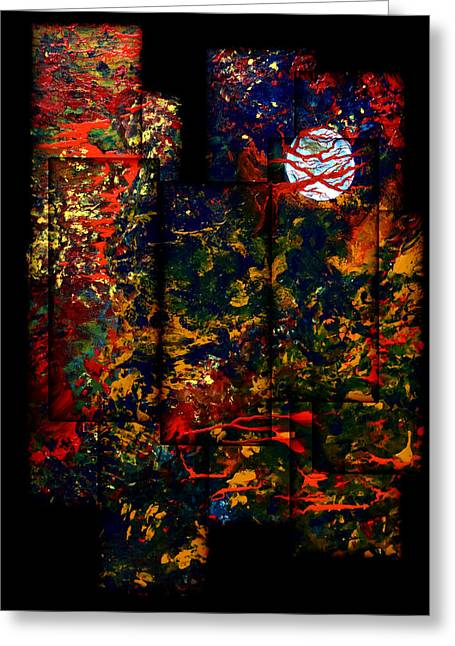 Abstract Evening Greeting Card by Patricia Motley