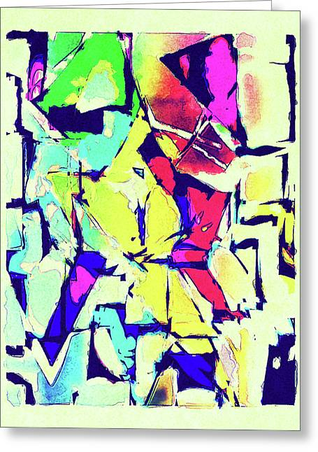 Abstract Explosion Greeting Card by Susan Leggett