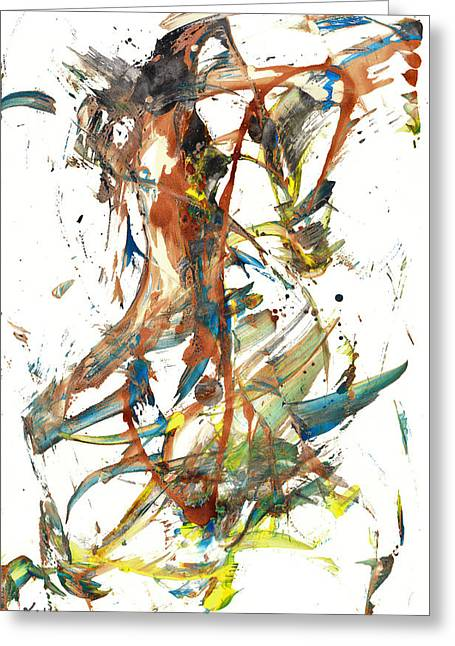 Greeting Card featuring the painting Abstract Expressionism Painting Series 1039.050812 by Kris Haas