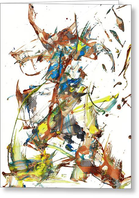 Greeting Card featuring the painting Abstract Expressionism Painting Series 1040.050812 by Kris Haas