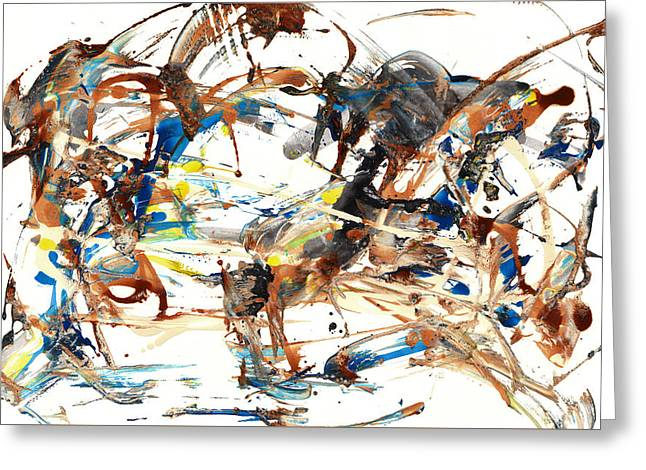 Greeting Card featuring the painting Abstract Expressionism Painting Series 1042.050812 by Kris Haas
