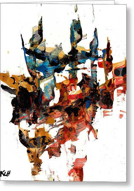 Abstract Expressionism Painting Series 750.102910 Greeting Card
