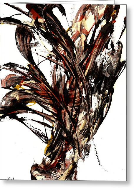 Abstract Expressionism Series 58.121210 Greeting Card